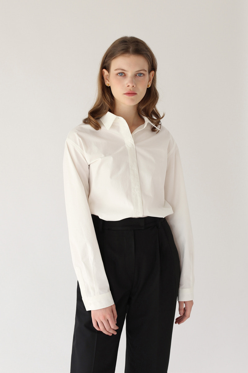 WIDE- FIT SHIRT ( WHITE )