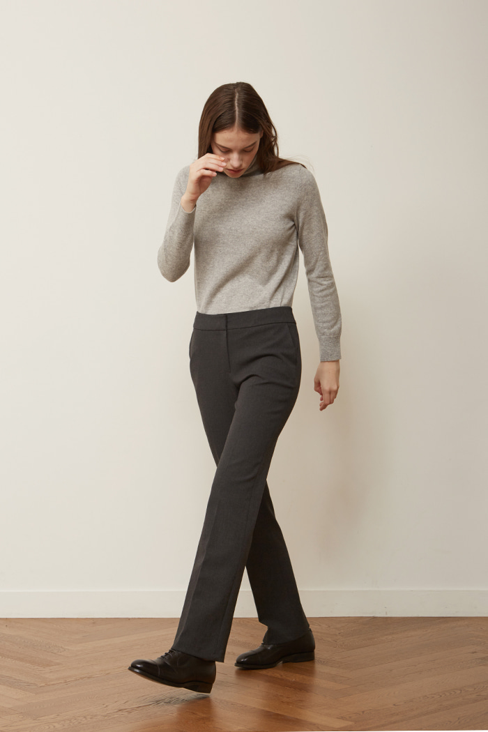 FW ' SLIM BOOTS CUT TROUSERS -  CHARCOAL