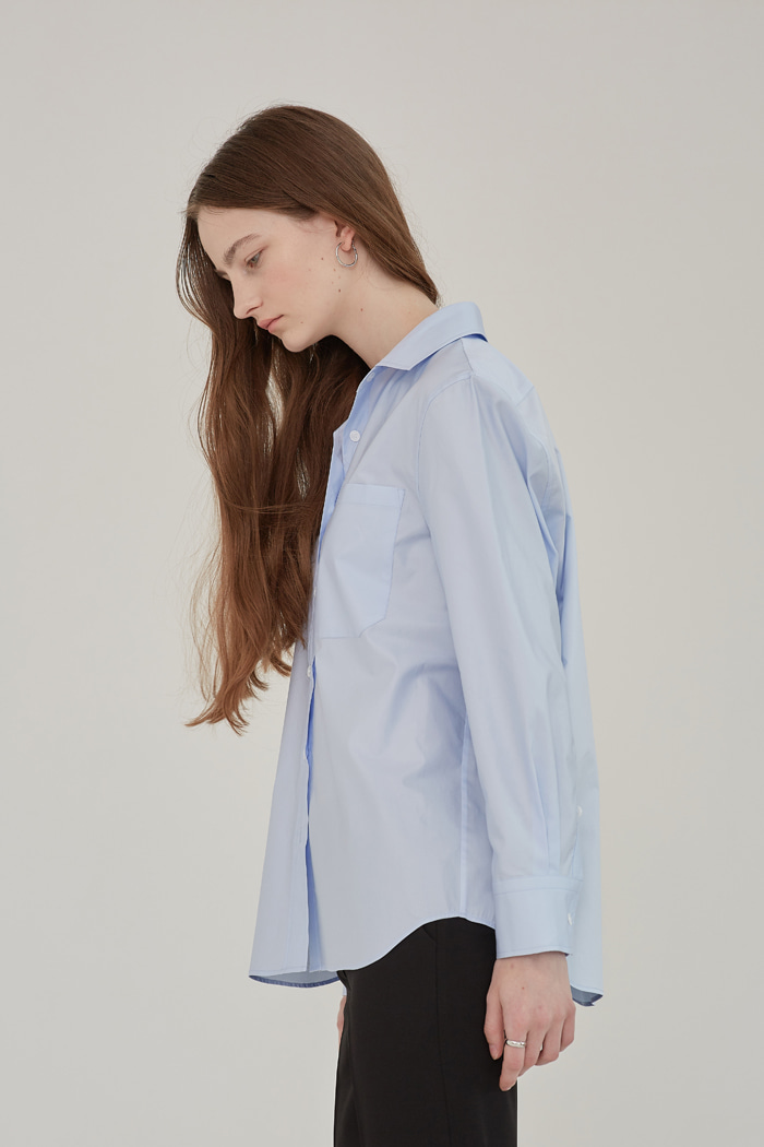 SOFT COTTON SUMMER SHIRT - SKY BLUE