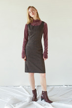 CLASSIC CHECK DRESS - BROWN