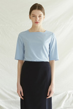 [5%] SQUARE NECK TOP -  SKY BLUE
