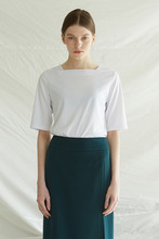 SQUARE NECK TOP -  WHITE