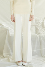 SLIT WIDE TROUSERS - IVORY