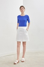 A-LINE POCKET SKIRT - WHITE