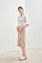 SLIT LONG SKIRT - BEIGE